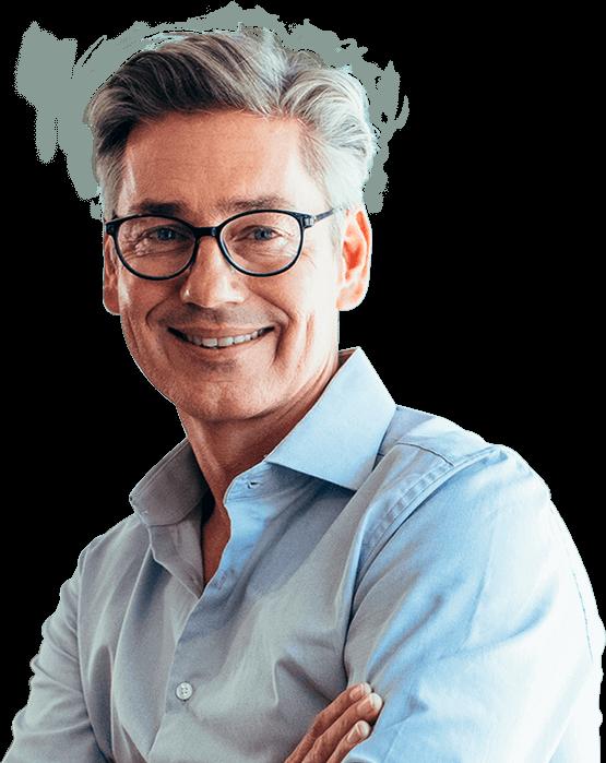 Empresario entrepreneur con camisa y lentes