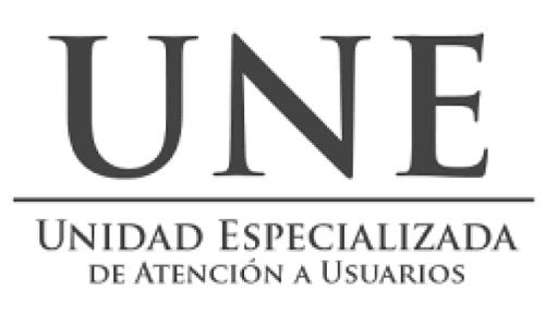 UNE Unidad Especializada de Atención a Usuarios.